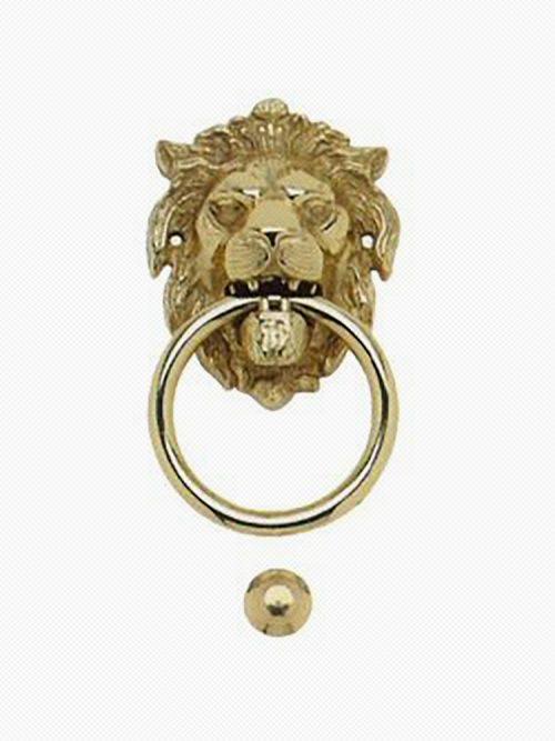 deurklopper brons leeuwenkop