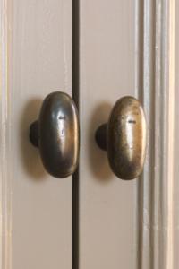 deurklink Dauby patina