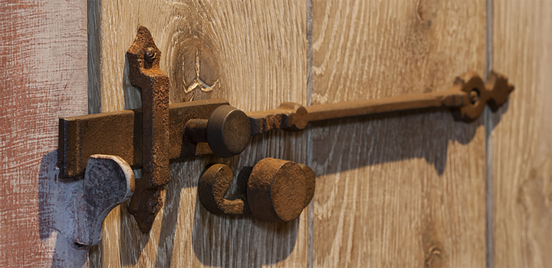 deurgrendel Dauby landelijk deurbeslag