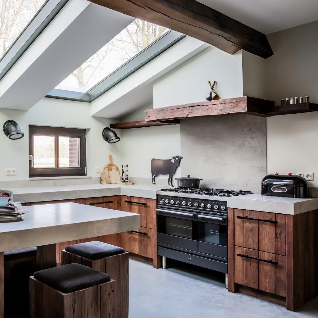 Cuisine Style Ancien projet mereno - cuisine worchester en bois ancien – dauby